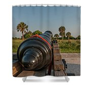 Coastal Fortification Shower Curtain