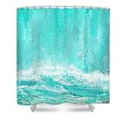 Coastal Inspired Art Shower Curtain
