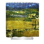 Coastal Marsh View Abstract Shower Curtain