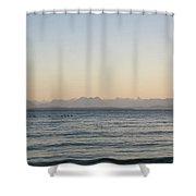 Coastal Mountains At Sunrise Shower Curtain