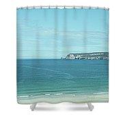 Coastal Panorama Near Durness Shower Curtain