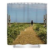 Coastal Path Shower Curtain