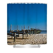 Coastal Remains Shower Curtain