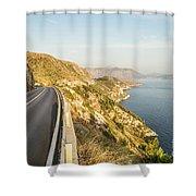 Coastal Road Near Dubrovnik In Croatia Shower Curtain