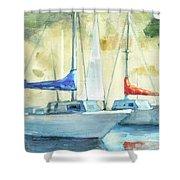 Coastal Sails Shower Curtain