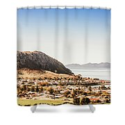 Coastal Tasmanian Town Shower Curtain