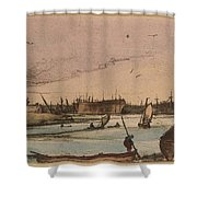 Coastal Town Shower Curtain