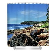 Coastline And Otter Cliff 1 Shower Curtain