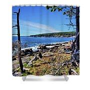 Coastline At Otter Point 1 Shower Curtain