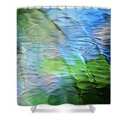 Coastline Mosaic Abstract Art Shower Curtain
