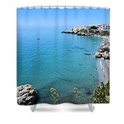 Coastline Of Nerja-spain Shower Curtain