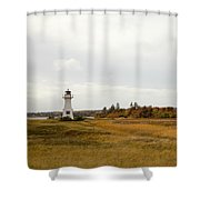 Coastline Of Prince Edward Island, Canada With Lighhouse Shower Curtain