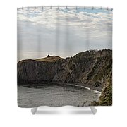 Coastline Of Skerwink Trail, Trinity, Newfoundland, Canada  Shower Curtain
