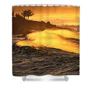 Coastline Sunset Shower Curtain