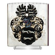 Coat Of Arms Black Shower Curtain