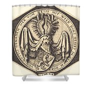 Coat Of Arms With A Lion Shower Curtain