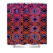 Cobalt Crimson Shower Curtain