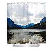 Cobalt Lake Shower Curtain