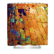 Cobble Stones In Color Shower Curtain