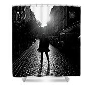Cobblestone Path Home Paris Bw Shower Curtain
