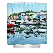 Cobh Harbour County Cork Shower Curtain