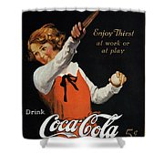 Coca-cola Ad, 1923 Shower Curtain by Granger