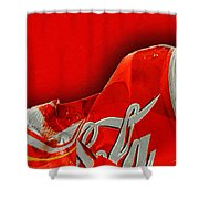 Coca-cola Can Crush Red Shower Curtain