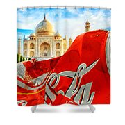 Coca-cola Can Trash Oh Yeah - And The Taj Mahal Shower Curtain