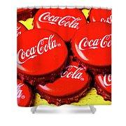 Coca Cola Caps Shower Curtain