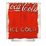 Coca-cola Cooler Shower Curtain