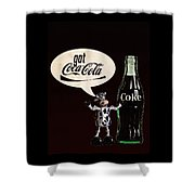 Coca-cola Forever Young 18 Shower Curtain by James Sage