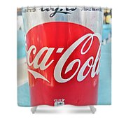Coca Cola Light Can Shower Curtain