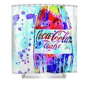 Coca Cola Light Shower Curtain