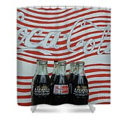 Coca Cola Olympic Commemorative Bottles Shower Curtain