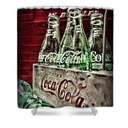 Coca Cola Vintage 1950s Shower Curtain