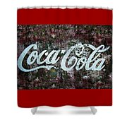 Coca Cola Wall Shower Curtain