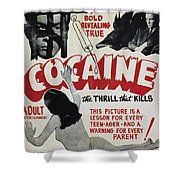 Cocaine Movie Poster, 1940s Shower Curtain