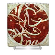 Cocalligraphy Shower Curtain