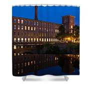 Cocheco Mills At Blue Hour Dover New Hampshire Shower Curtain