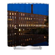 Cocheco Mills At Twilight Dover New Hampshire Shower Curtain