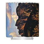 Cochise Head Shower Curtain