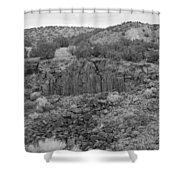 Cochiti Rocks Shower Curtain