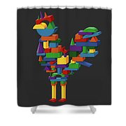 Cock Block Farm Rooster Shower Curtain