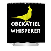 Cockatiel Whisperer Shower Curtain