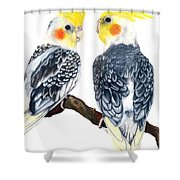 Cockatiels Shower Curtain