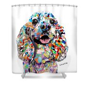 Cocker Spaniel Head Shower Curtain