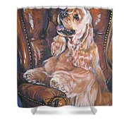 Cocker Spaniel On Chair Shower Curtain