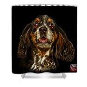 Cocker Spaniel Pop Art - 8249 - Bb Shower Curtain