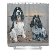 Cocker Spaniels Shower Curtain
