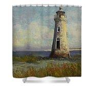 Cockspur Island Lighthouse Shower Curtain